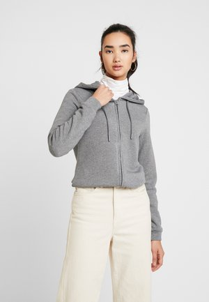 ONLSONJA ZIP HOOD - Mikina na zip - medium grey melange