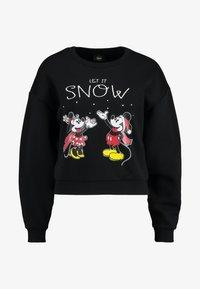 black/snow