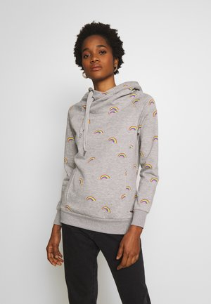 ONLJALENE HOOD - Sweat à capuche - light grey melange