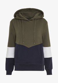 ONLY - ONLPEAR BLOCKING HOOD - Sweat à capuche - kalamata/white/night sky - 4