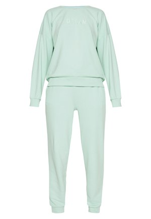 SET SWEATSHIRT AND PANTS - Sweatshirt - mist green