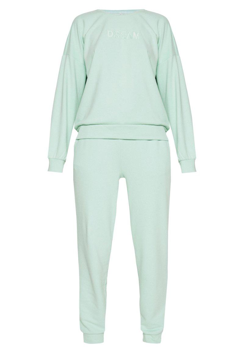 ONLY - SET SWEATSHIRT AND PANTS - Sweatshirt - mist green
