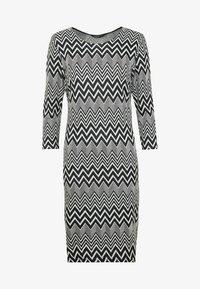 ONLY - ONLVIGGA ONECK DRESS - Shift dress - cloud dancer/zigzag black - 3