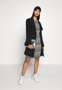 ONLY - ONLVIGGA ONECK DRESS - Shift dress - cloud dancer/zigzag black - 1