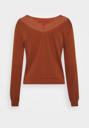 ONLMILA NECK MIX  - Sweater - ginger bread