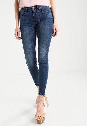 ONLKENDELL ANK ZIP - Jeans Skinny Fit - dark blue denim