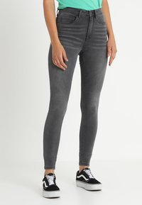 ONLY - ONLROYAL HIGH  - Jeansy Skinny Fit - dark grey denim - 0