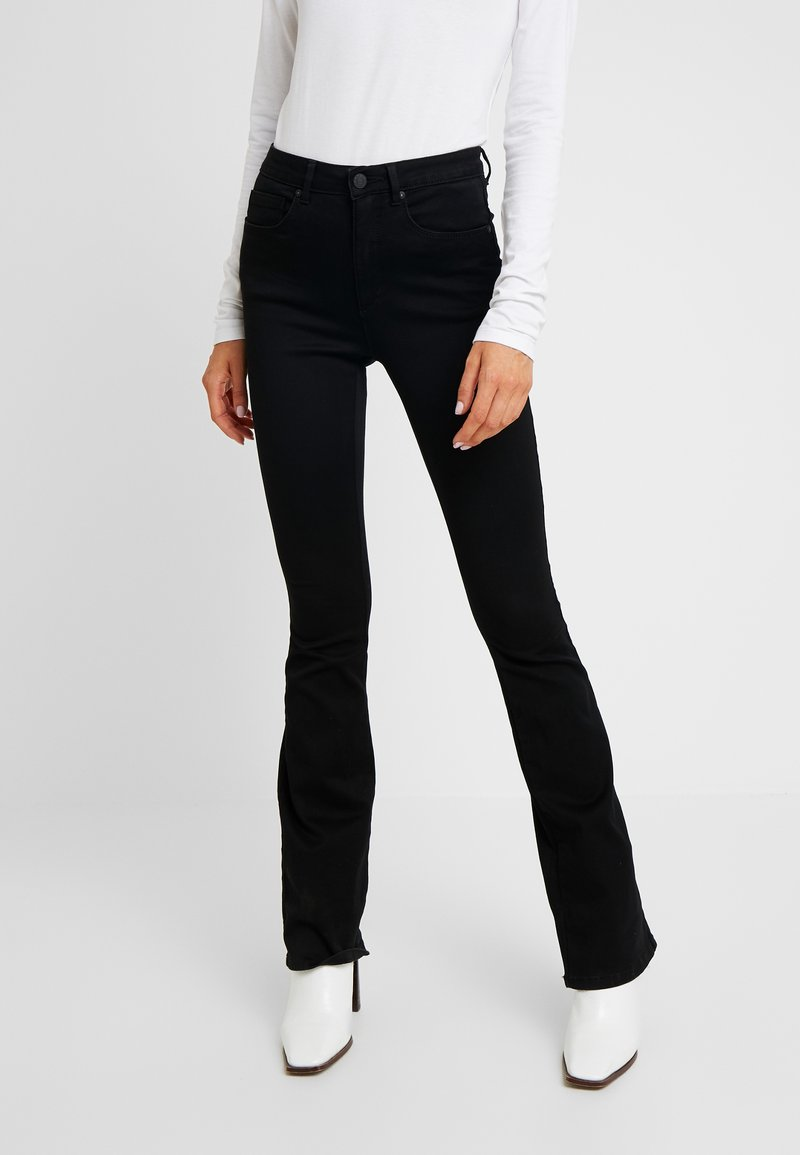 ONLY - ROYAL HIGH SWEET - Jeans bootcut - black