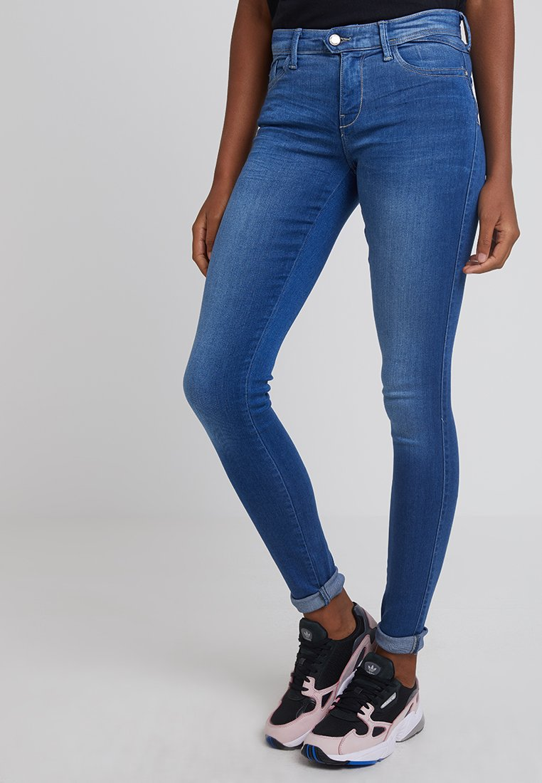 ONLY - ONLCARMEN LIFE - Skinny džíny - medium blue denim