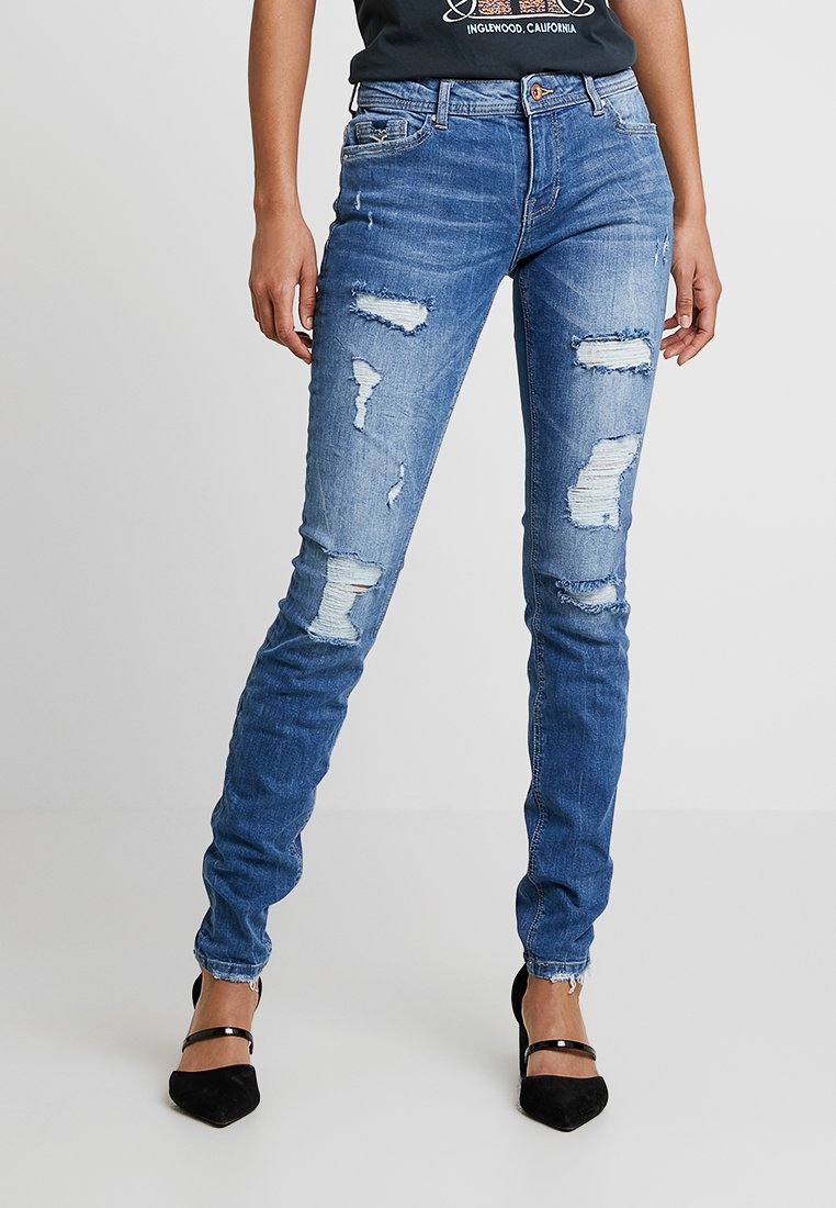 ONLY - ONLCARMEN - Jeans Skinny Fit - blue/white