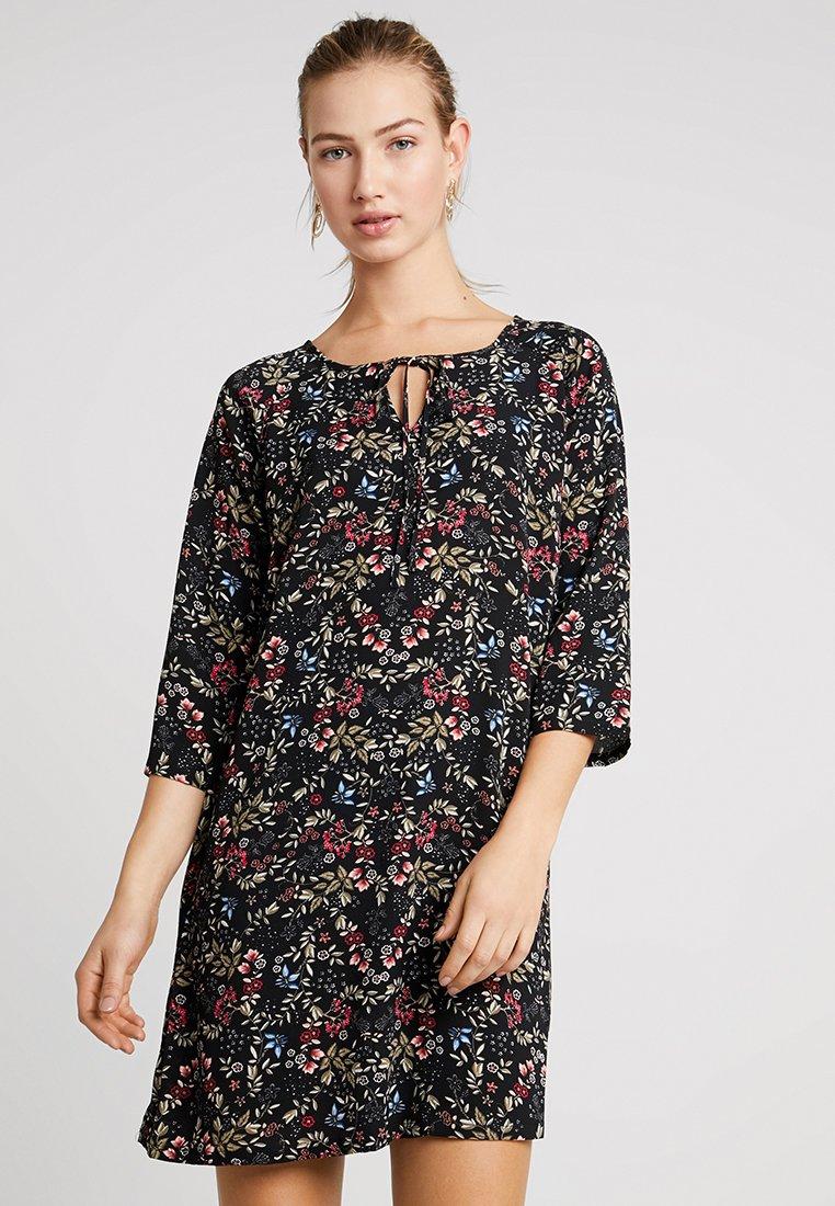 ONLY - ONLNOVA 3/4 TIE  DRESS - Day dress - black