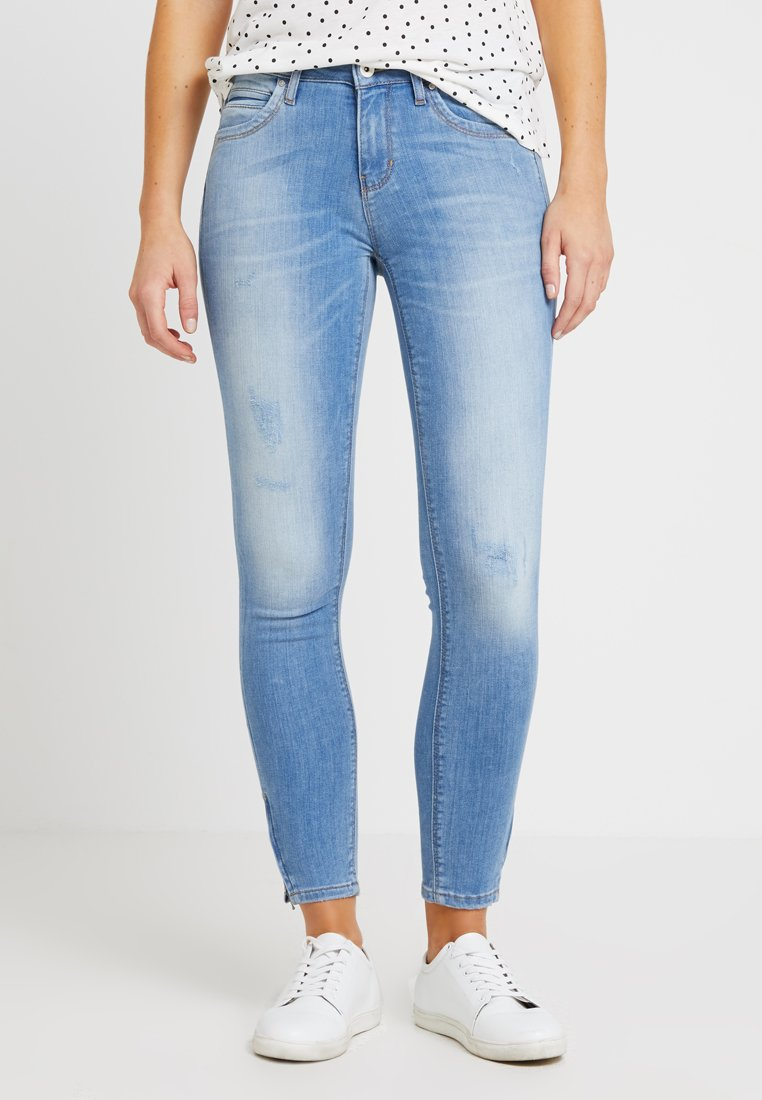 ONLY - ONLKENDELL REGSK ANK ZIP - Jeans Skinny Fit - light blue denim