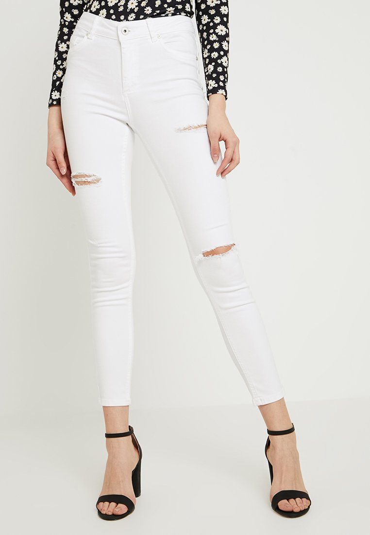 ONLY - ONLBLUSH DESTORY - Jeans Skinny Fit - white denim