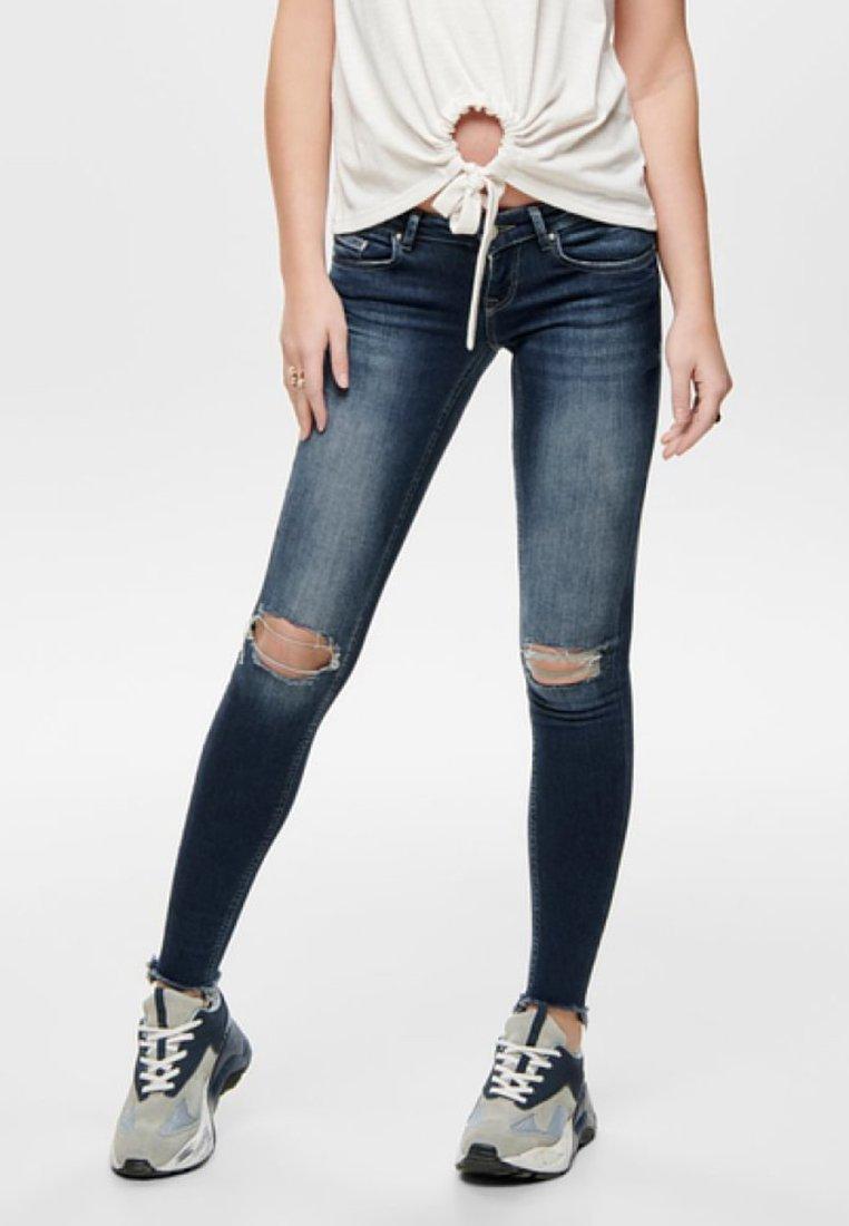ONLY - Jeans Skinny Fit - dark blue denim
