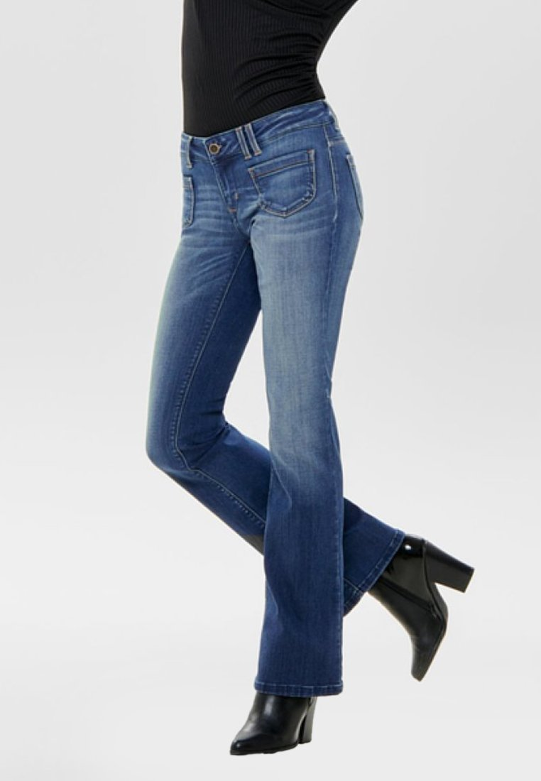 ONLY - Flared Jeans - dark blue
