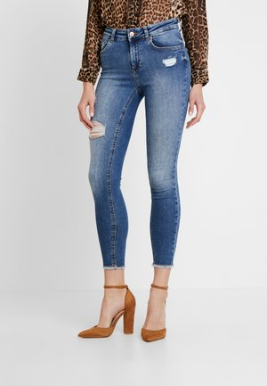 ONLBLUSH MID RAW - Jeans Skinny Fit - medium blue denim