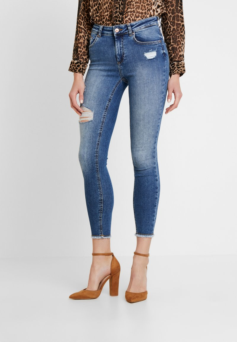 ONLY - ONLBLUSH MID RAW - Jeans Skinny Fit - medium blue denim
