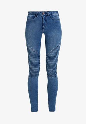 ONLROYAL REG BIKER - Skinny džíny - medium blue denim