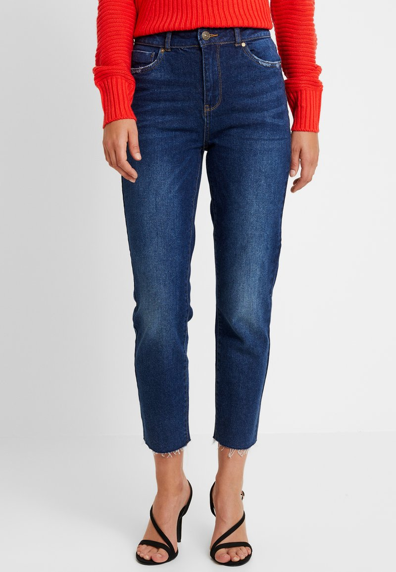 ONLY - ONLEMILY HIGHWAIST  - Jeans a sigaretta - dark blue denim