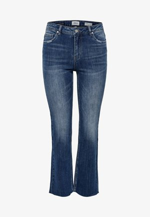 ONLKENYA  - Flared Jeans - dark blue denim
