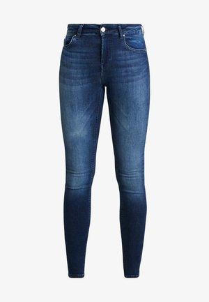 ONLBLUSH MID - Jeansy Skinny Fit - dark blue denim