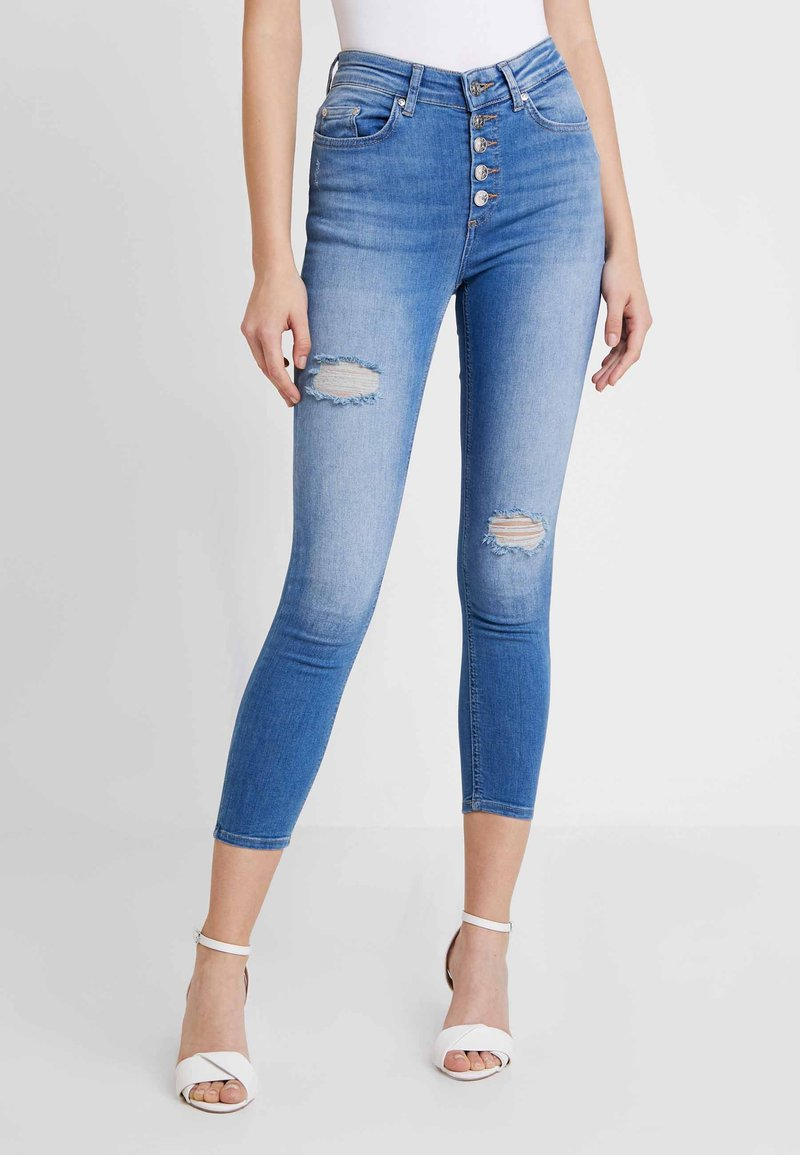ONLY - ONLBLUSH BUTTON REA - Jeans Skinny Fit - medium blue denim