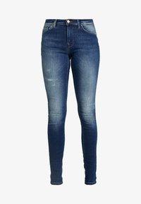 ONLY - ONLCARMEN REG - Jeans Skinny Fit - dark blue denim - 4
