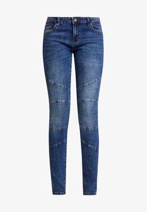 ONLCARMEN BIKER LIFE - Jeans Skinny Fit - medium blue denim