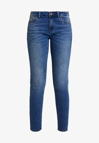 ONLY - ONLCARMEN REG ANK - Vaqueros pitillo - medium blue denim - 4