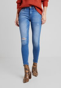ONLY - ONLFHUSH LIFE - Jeans Skinny Fit - dark blue denim - 0