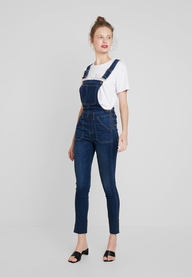 ONLY - ONLROBBIE OVERALL - Jeans Skinny Fit - medium blue denim