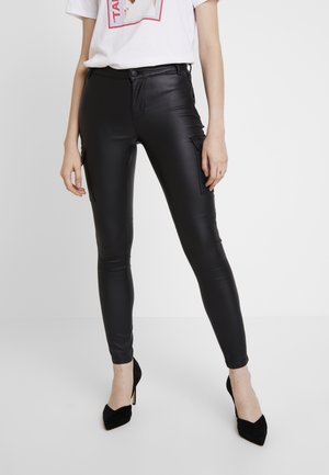 ONLROYAL COATED PANT - Jeans Skinny Fit - black