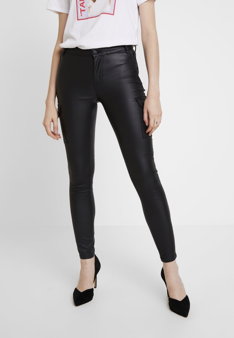 ONLY - ONLROYAL COATED PANT - Jeans Skinny Fit - black