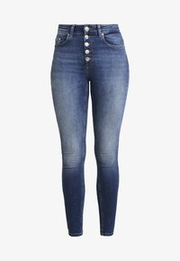 ONLY - Jeans Skinny Fit - dark-blue denim - 4