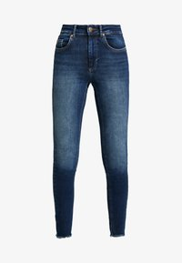 ONLY - ONLBLUSH RAW REA - Jeans Skinny - dark blue denim - 4