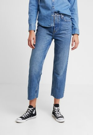 ONLROXY TRAIGHT - Straight leg jeans - light blue denim