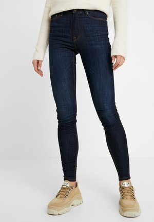 ONLPAOLA HIGHWAIST - Skinny džíny - dark blue denim