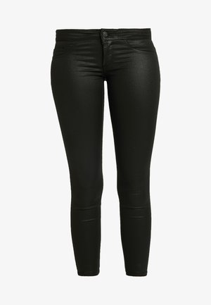 ONLCORAL SUPERLOW LUX COATED PANT - Broek - black