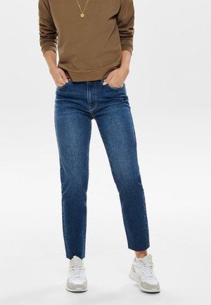 ONLEMILY  - Straight leg jeans - dark-blue denim