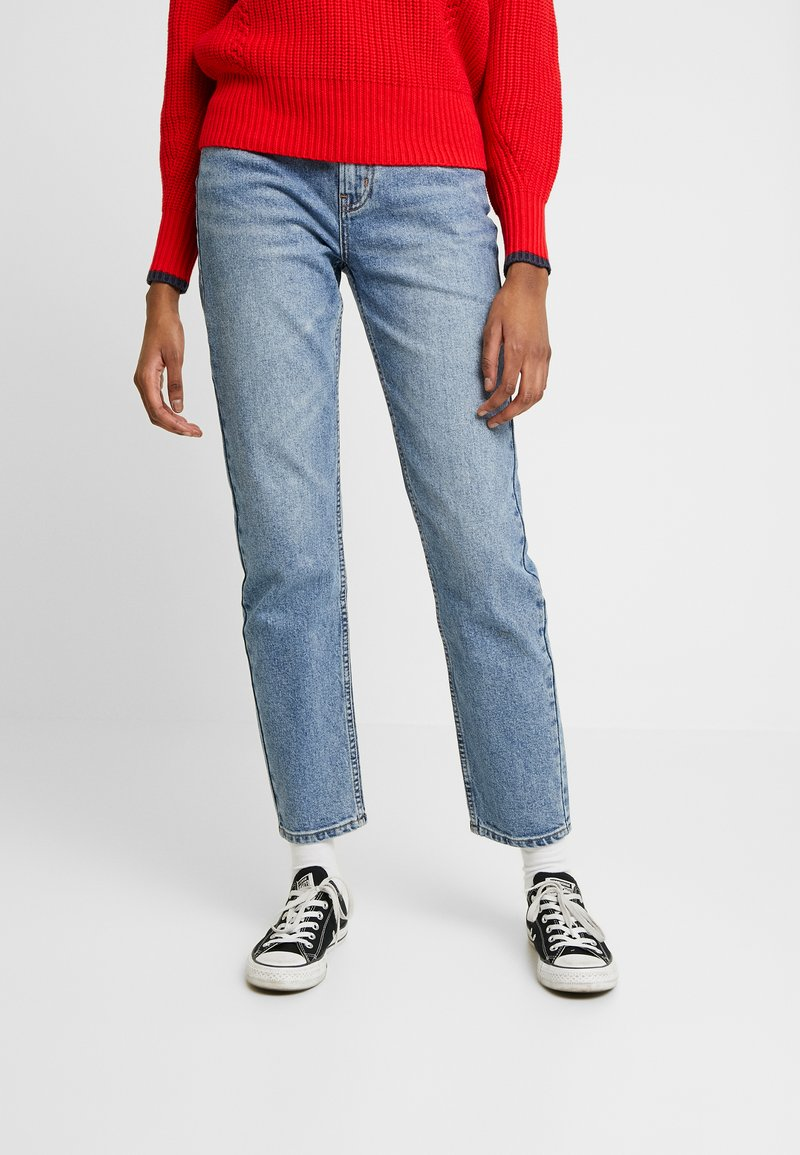ONLY - ONLEMILY ANKLE - Straight leg jeans - medium blue denim