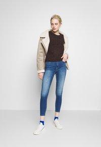 ONLY - ONLFPAOLA DESTROY - Jeans Skinny Fit - medium blue denim - 1
