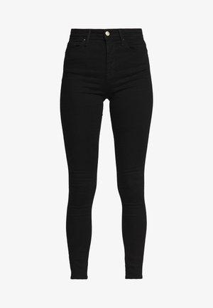 ONLIDA MIDWAIST  - Jeansy Skinny Fit - black denim