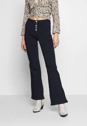 ONYHELLA RETRO - Flared Jeans - dark blue denim