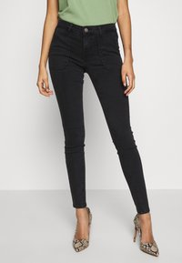 ONLY - ONLCARMEN WORKER  - Vaqueros pitillo - black denim - 0