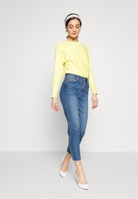 ONLY - ONLEMILY RAW ANKLE - Jean slim - dark blue denim - 1