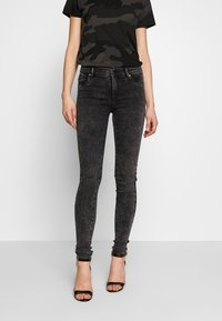 ONLY - ONLRAIN ACID - Jeans Skinny Fit - black denim - 0