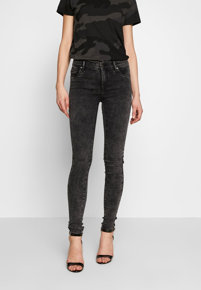 ONLY - ONLRAIN ACID - Jeans Skinny Fit - black denim