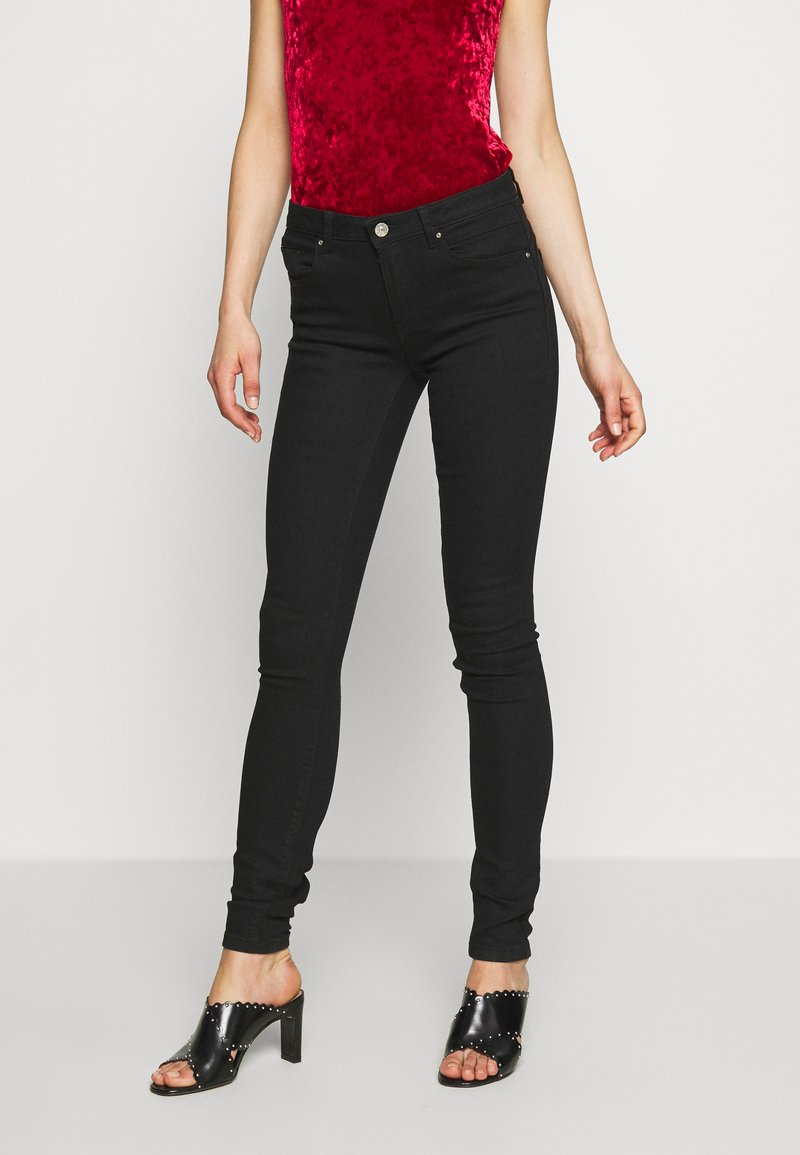 ONLY - ONLDAISY PUSH UP - Jeans Skinny Fit - black denim