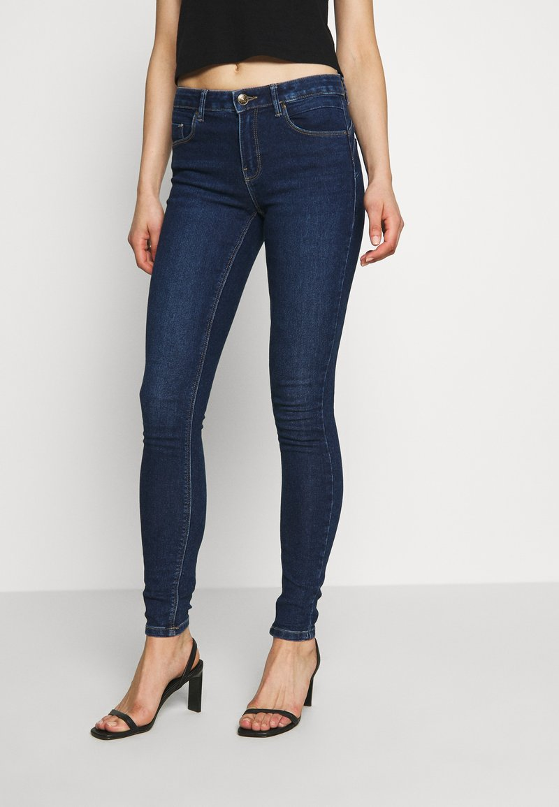 ONLY - DAISY REG PUSH UP - Jeans Skinny Fit - dark blue denim