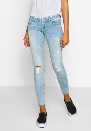 ONLCORAL RAW - Jeansy Skinny Fit - light blue denim